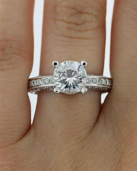 Uneek  Diamond Solitaire Engagement Ring mounting