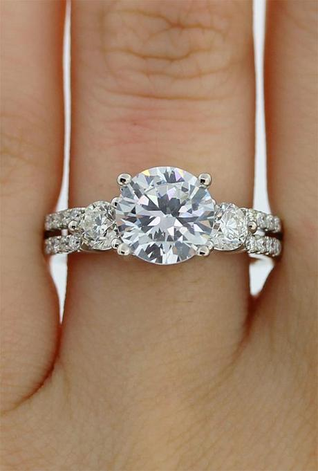 Diamond Solitaire Engagement Ring Semi Mounting
