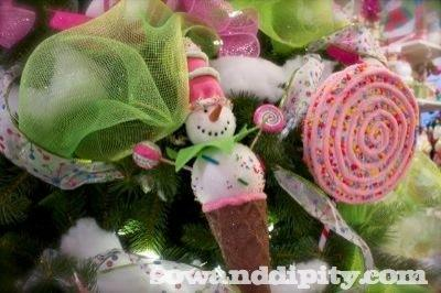 candy land tree decor