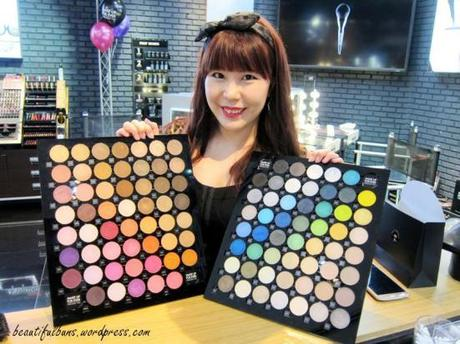 MUFE eyeshadow event