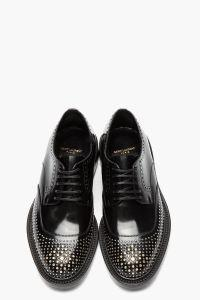 Saint Laurent black and silver shoes