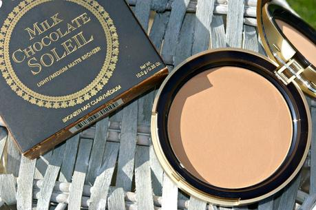 Too Faced Milk chocolate soleil bronzer & Cocoa powder foundation