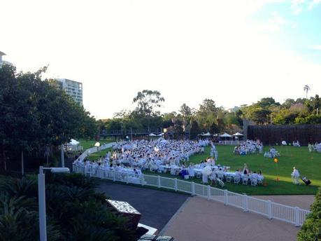 The secret location was revealed as the Celebration Lawn at Roma Street Parklands.