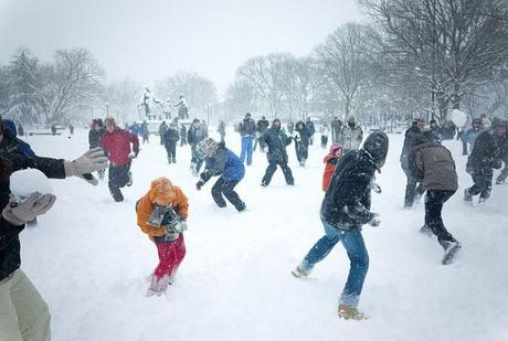 big snowball fight