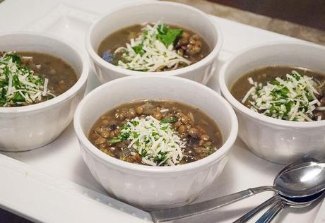 Lentil Soup with Parmesan Gremolata