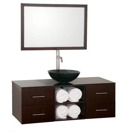 Abba Floating Vanity from the Wyndham Collection