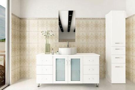 White Modern Bathroom Vanity