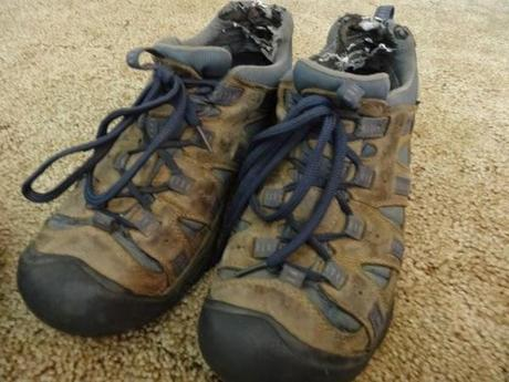 Jeremy's KEEN shoes after 15 months of travel