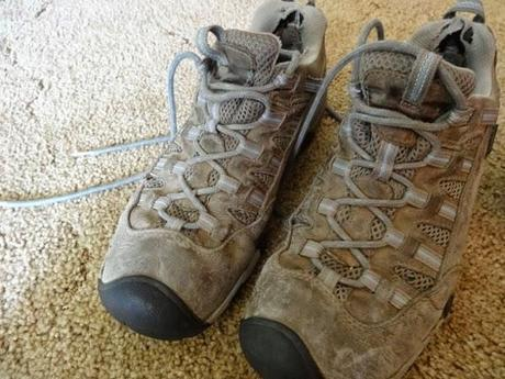 Angie's KEEN shoes after 15 months of travel