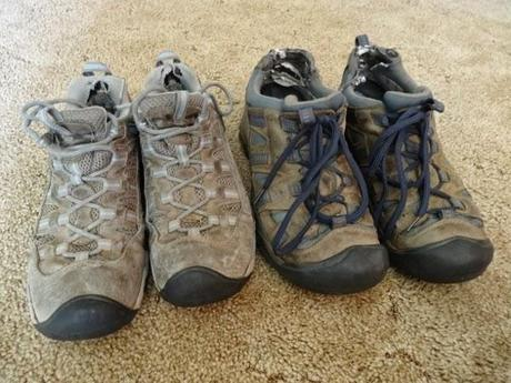 Our KEEN shoes after 15 months of travel