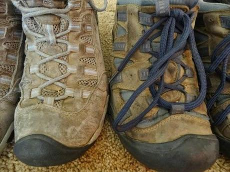 Our shoes also got very, very dirty.