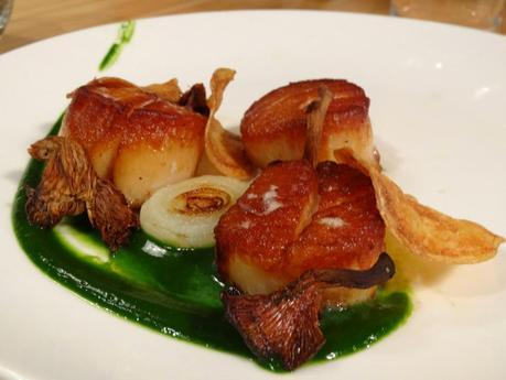 Smoked scallops at Cerulean
