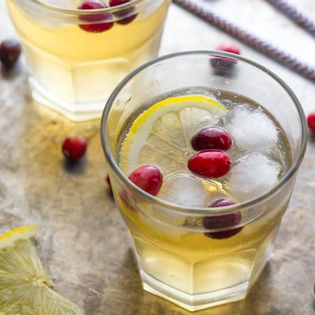Cranberry Ginger Cider Cocktail
