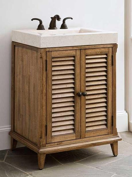 Bathroom Vanities with Louvered Shutter Style Doors ...