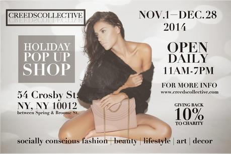 Shopping for a Cause | Creeds Collective Holiday Pop-Up in SoHo