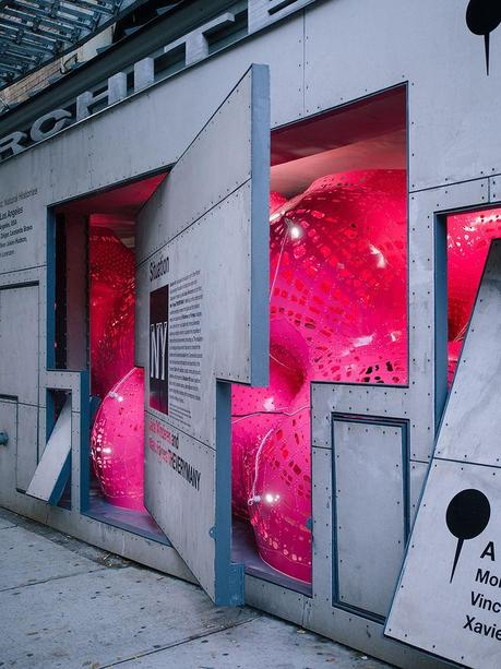 Storefront for Art and Architecture gallery space showing Situation NY sound installation