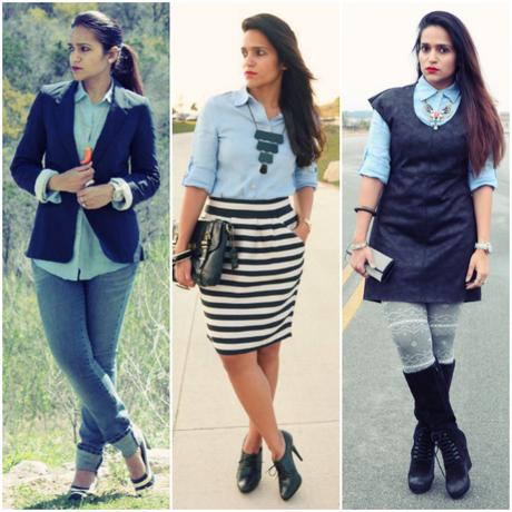 Three Ways To Wear Button Down, Tanvii.com