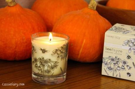 scented candles for autumn winter