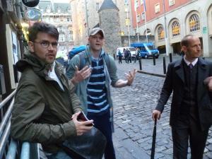 (From left) Trevor Lock, Devvo & Chris Dangerfield at the Edinburgh Fringe in 2012