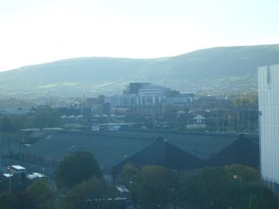 Belfast City from my hotel room in the Europa.