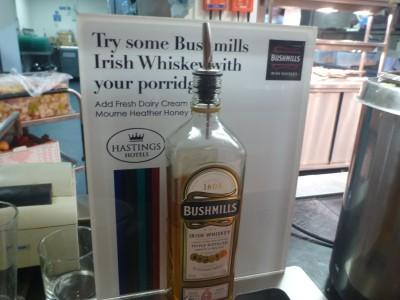 Put some Bushmills whiskey in your porridge? Why Not - you're in Northern Ireland!