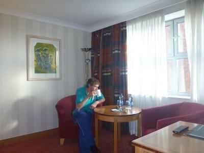 My night in the Europa Hotel, Belfast, Northern Ireland.