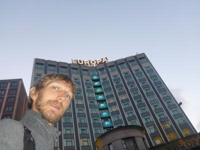 Staying in the Famous Europa Hotel in Belfast, Northern Ireland.