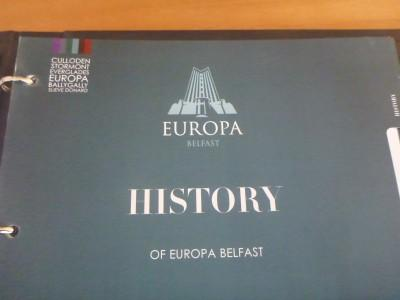 A folder with information on the Europa's history.