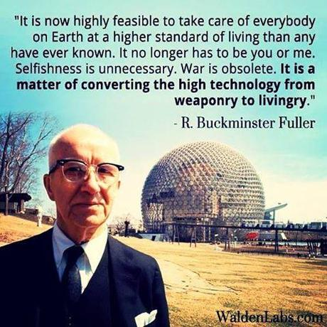 Buckminster Fuller helped pave the way toward innovation and sustainability through technology. His work also inspired and informed Nassim Haramein on his path to describing the geometry of the fabric of the vacuum.   The Buckminster Fuller Institute • ScienceAlert • The Resonance Project • Phys.org • The Resonance Project - Traduction Française • Thrive • The Resonance Project - Página Oficial Hispana • Unify