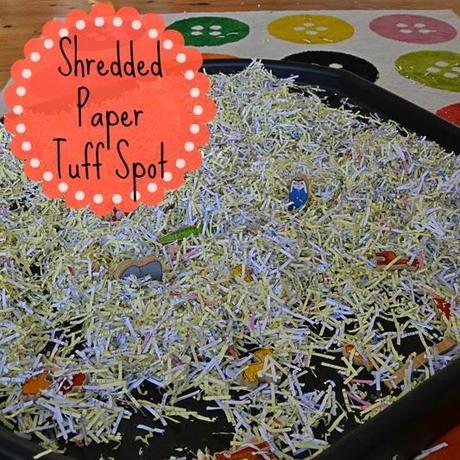 Day 16 Shredded Paper Tuff Spot Paperblog