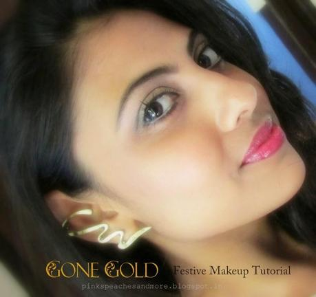 Gone Gold   Simple and Easy Festive Makeup Tutorial (Step by Step)