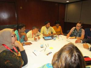 Participants in Role Play at the Session