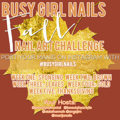Fall Busy Girl Nails Nail Art Challenge