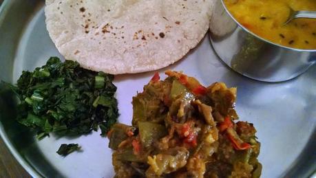 Indian Flat/Broad Beans Recipe with potatoes , tomato and brinjal | saem aur baingan ki mix sabzi