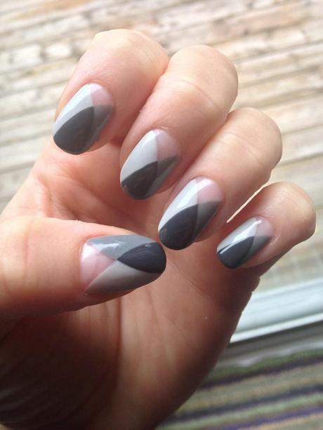 shades of gray nail art