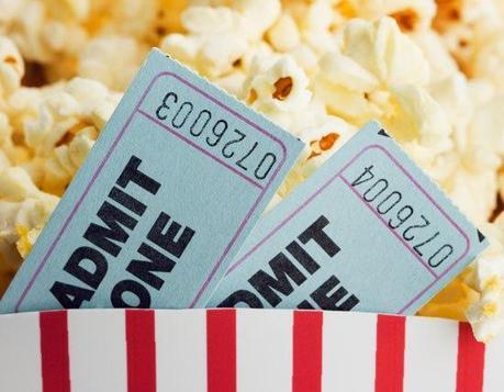 movie date, popcorn, movie