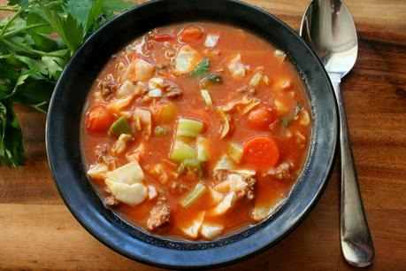 Cabbage, Beef and Tomato Stew (Gluten and MSG Free)