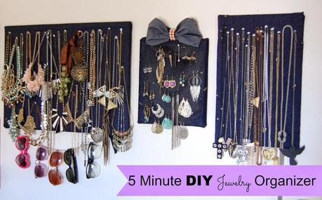 Confessions Of A Jewelry Hoarder | 5 Minute DIY Jewelry Organizer