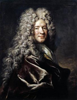 Nicolas de Largillière - Portrait of a Man in a Purple Robe