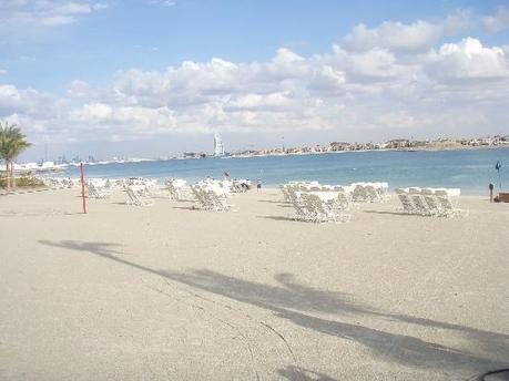 The beautiful and deserted beach