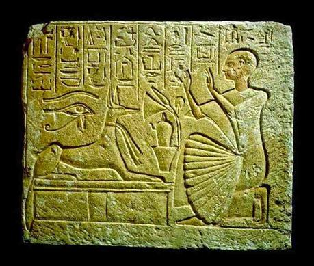 The Scribe Ta kneeling In front of Anubis