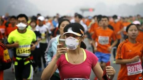 Beijing Marathon and the smog out there !!