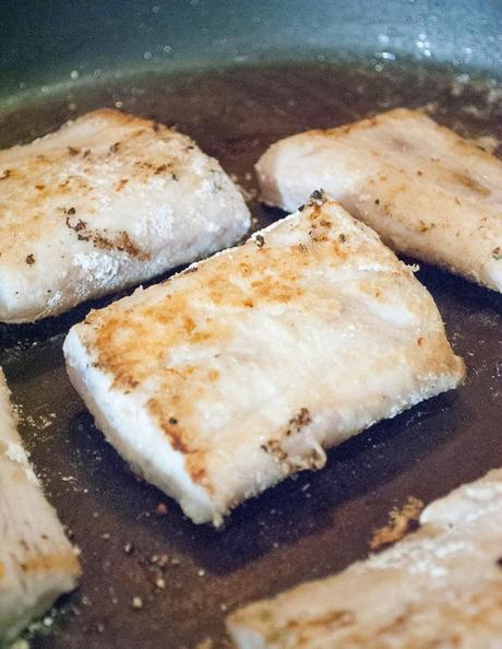 Cod Filets in a Rosemary and Orange Sauce