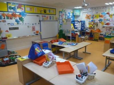 A P1 class at Kilmaine Primary School