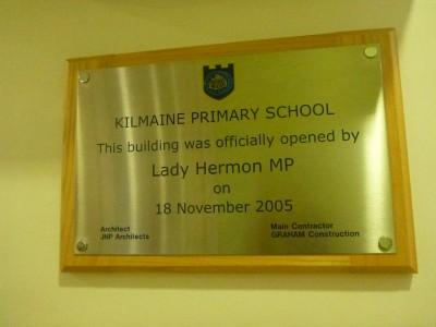 MP Lady Sylvia Hermon opened the new Kilmaine