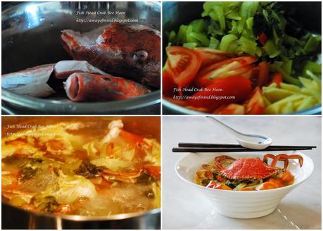 Fish Head Crab Bee Hoon 鱼头蟹米粉