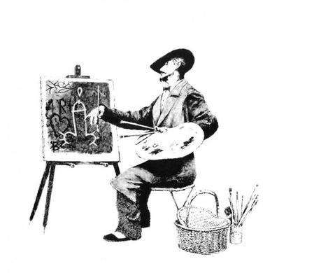 lc artiste m 750x636 Banksy arrest hoax