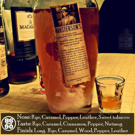 Mastersons 10 yr Straight Rye Review