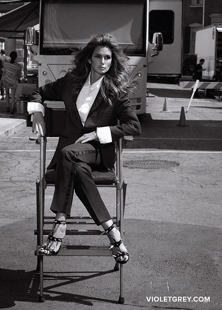 Cindy Crawford featured on Violet Grey