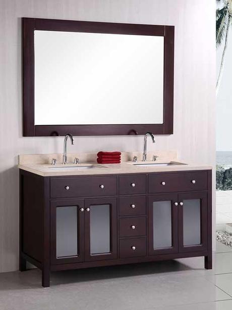 Venetian Double Vanity with Marble Top